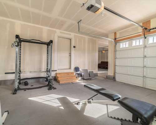 garage conversion gym