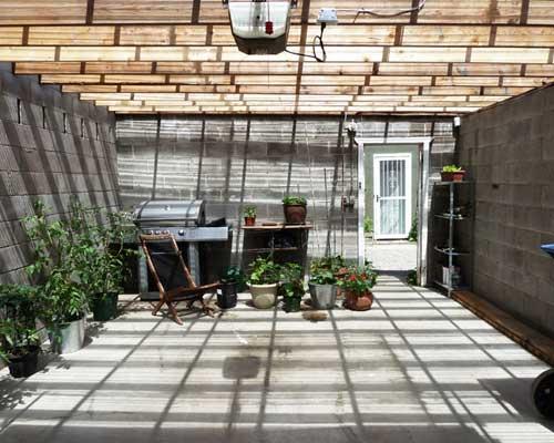 garage conversion greenhouse