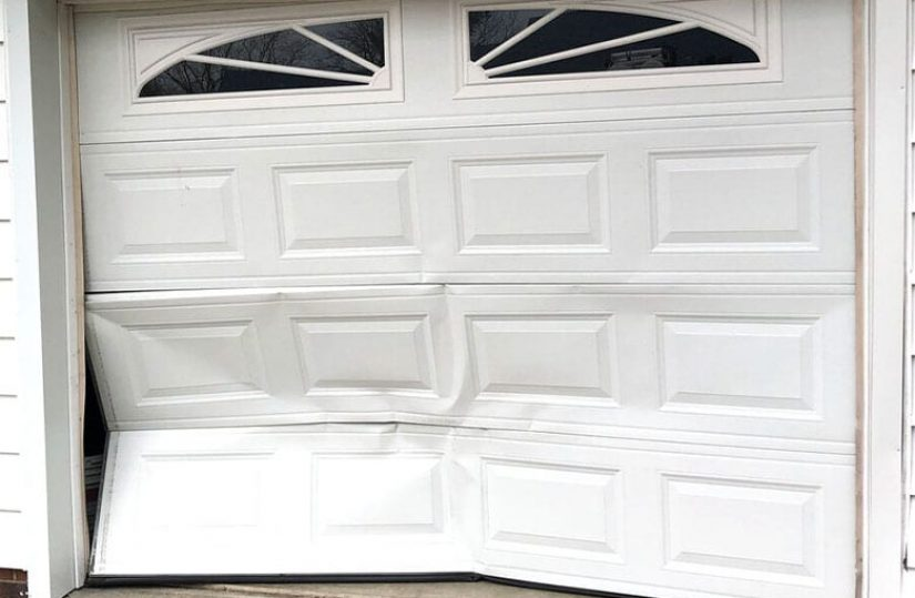 dented garage door panels